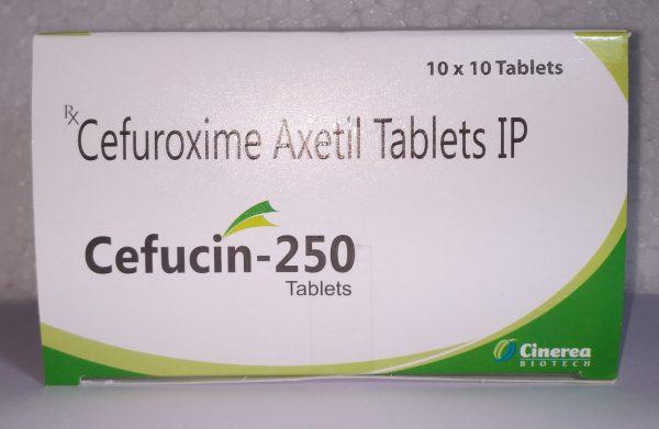 Cefucin-250 (Cefuroxime Axetil Tablets IP)