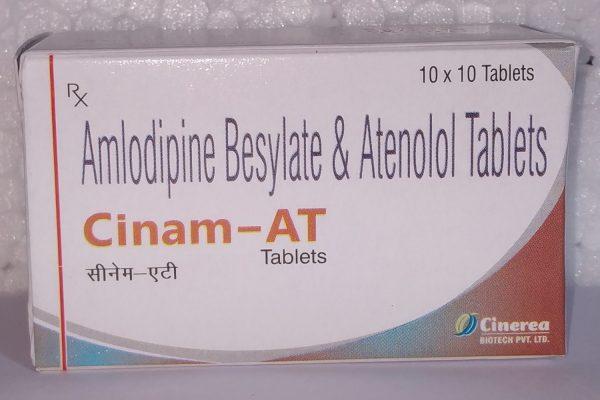 Cinam - AT (Amlodipine Besylate & Atenol Tablets)